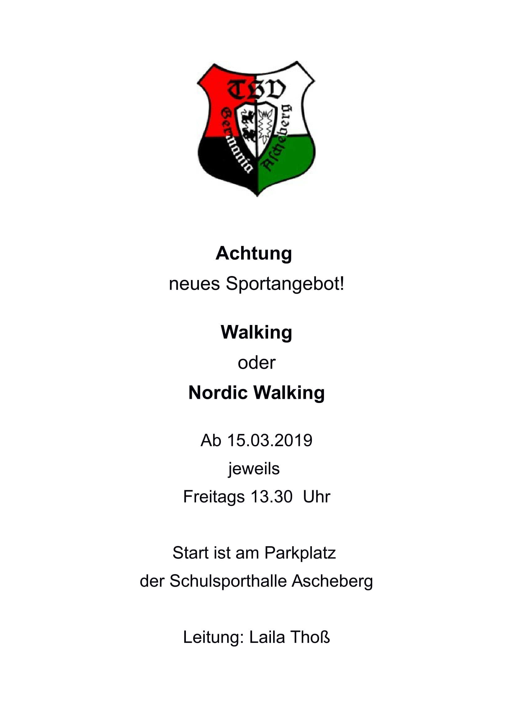 Plakat Neue Walkinggruppe 1